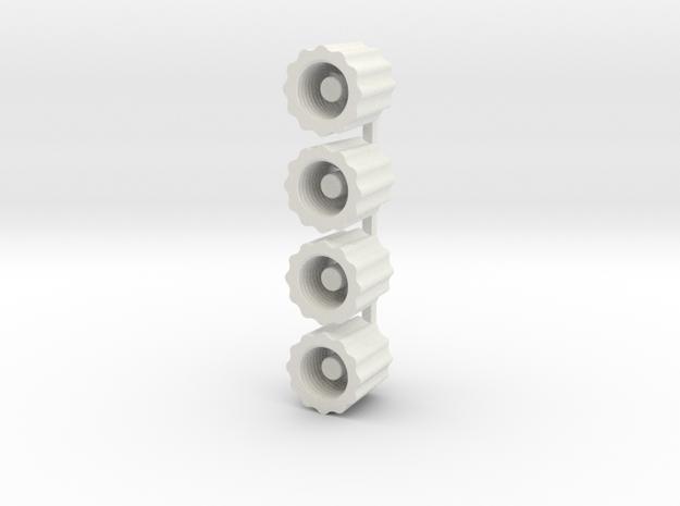 Schrader Valve Deflator in White Strong & Flexible