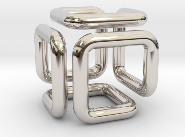 Pendant Of Cubical Wonder in Platinum