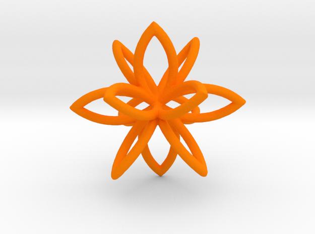3D Flower in Orange Strong & Flexible Polished