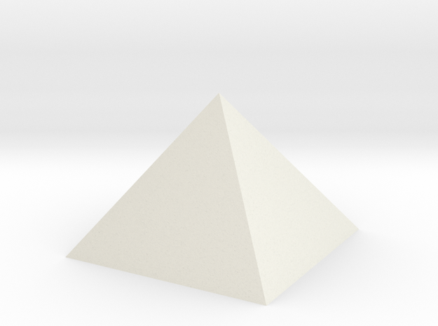 Pyramid 74mm Hollow Closed Hole - Square Johnson  in White Natural Versatile Plastic