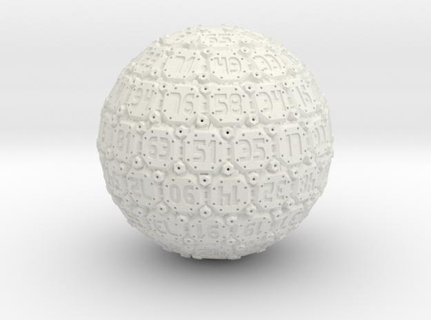 D100 Tech Dice - 2014 - Large in White Natural Versatile Plastic