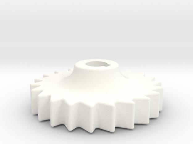 "D&RG Brake Rachet - 2.5"" scale in White Processed Versatile Plastic"