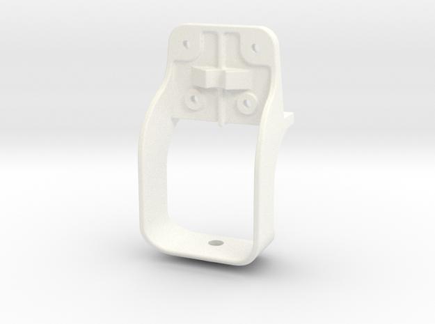 "D&RG Lower Brake Mast Stirrup - 2.5"" scale in White Processed Versatile Plastic"