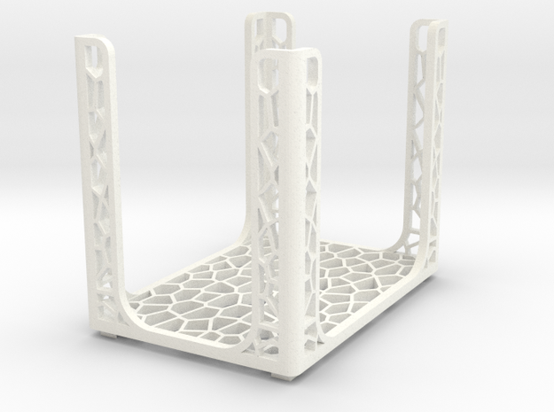 Game Card Holder - CELLULAR in White Processed Versatile Plastic