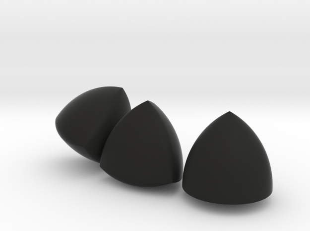 [Large] 3 Different Solids Of Constant Width in Black Natural Versatile Plastic