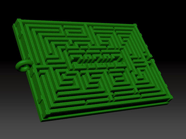 HedgeMaze in Green Strong & Flexible Polished