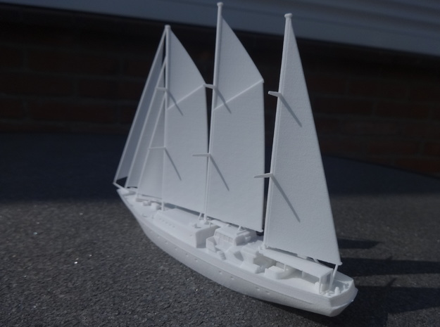Sailingvessel Eendracht 1/350 in White Strong & Flexible