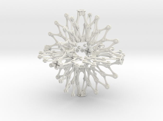 Hoberman Sphere (Large) in White Strong & Flexible