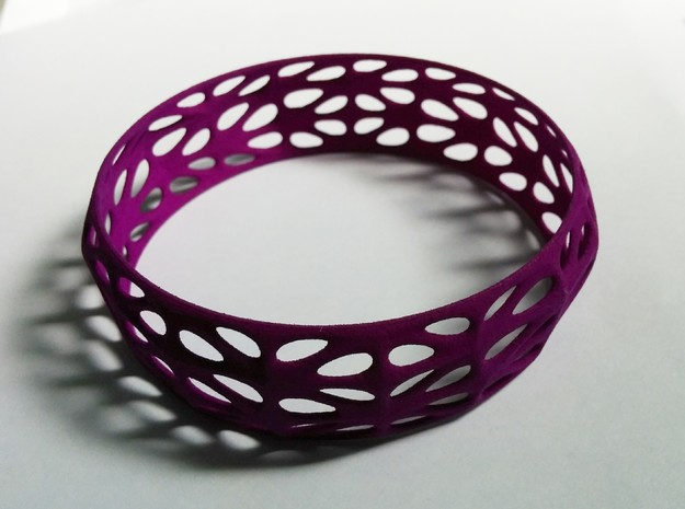 Randomquads Bracelet in Purple Strong & Flexible Polished