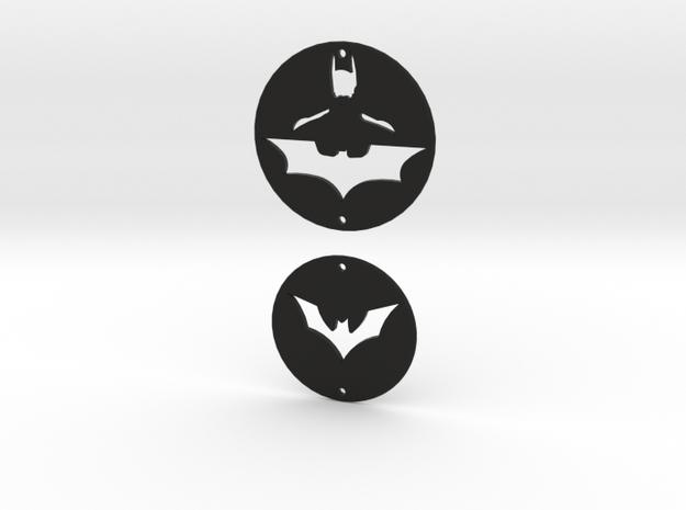 Batman Charms Set 1 in Black Strong & Flexible
