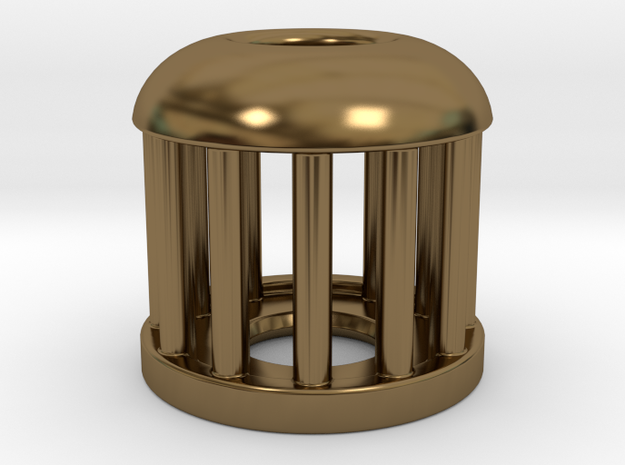 Birdcage Bead 1 (Silver/Brass/Plastic) 3d printed