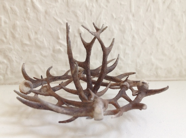 1:12 Antler Chandelier 1 in Frosted Ultra Detail