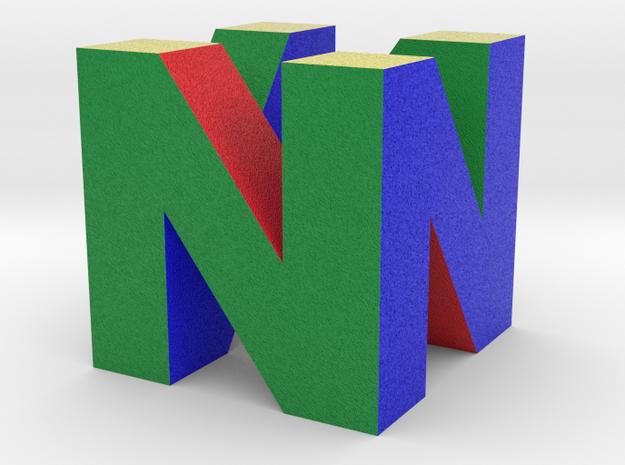 "N64 Logo - 5"" Desk Cube Full Colour Sandstone in Full Color Sandstone"