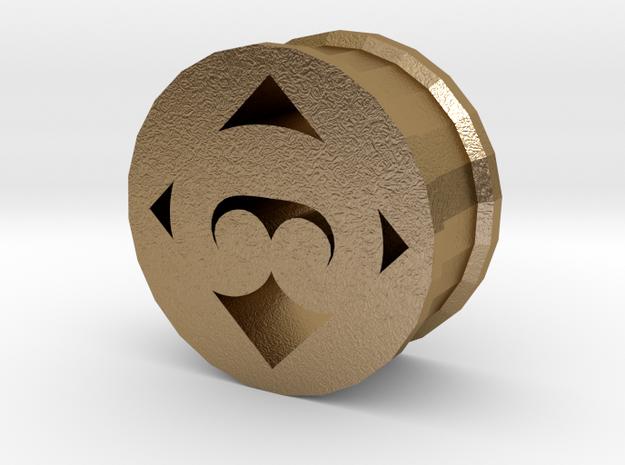Maoristyle ear plug/tunnel tribal koru shape in Polished Gold Steel