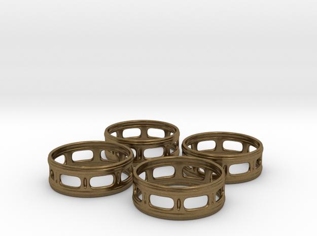 Windowed Napkin Rings (4) 3d printed