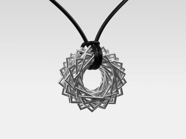 Twisted Ring Pendant - Part 2 in Polished Silver