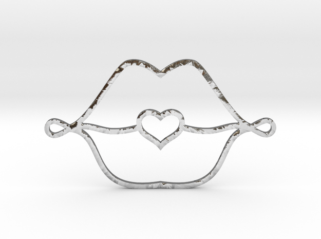 Love Lips in Polished Silver