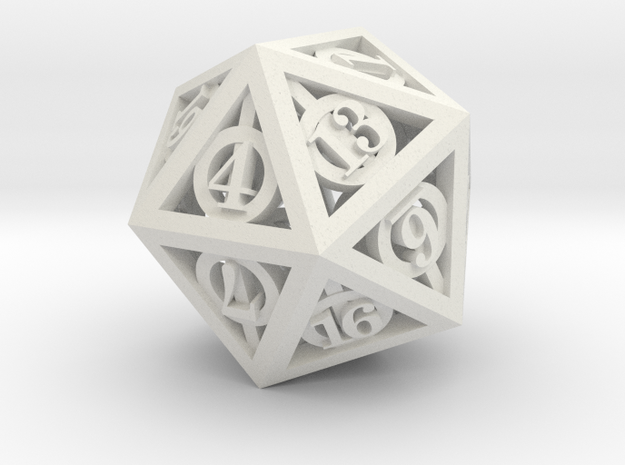 Deathly Hallows d20 3d printed