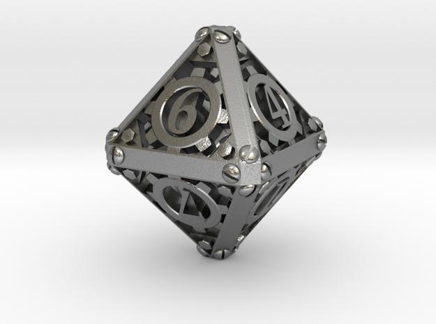 Steampunk d8 3d printed