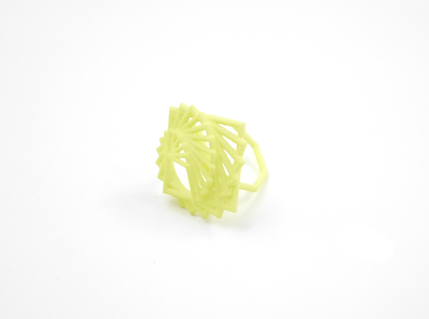 Arithmetic Ring (Size 6) 3d printed Key Lime Nylon (Custom Dyed Color)