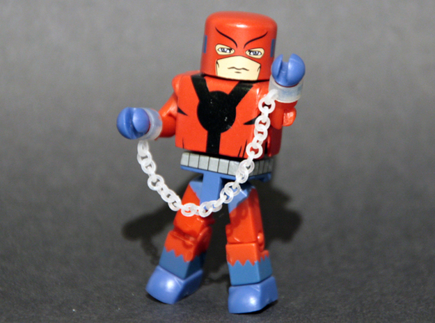 Chains for Minimate 3d printed printed in Frosted Ultra Detail