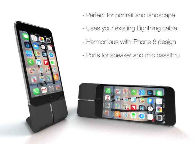 Prehiti iPhone 6 Dock in Black Strong & Flexible