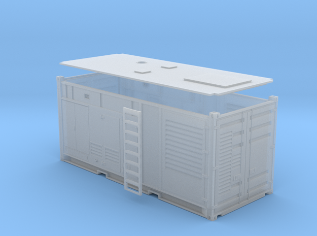1:87 Generator AC 1MW in einem 20 ft Container in Frosted Ultra Detail