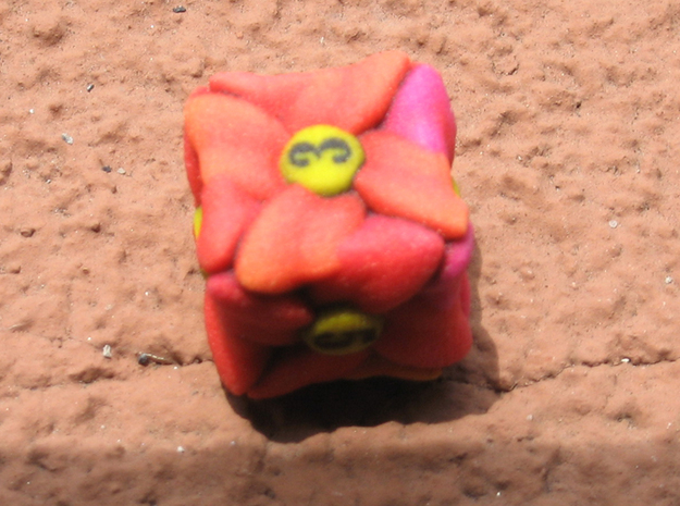 Flower D6 (Small) in Full Color Sandstone