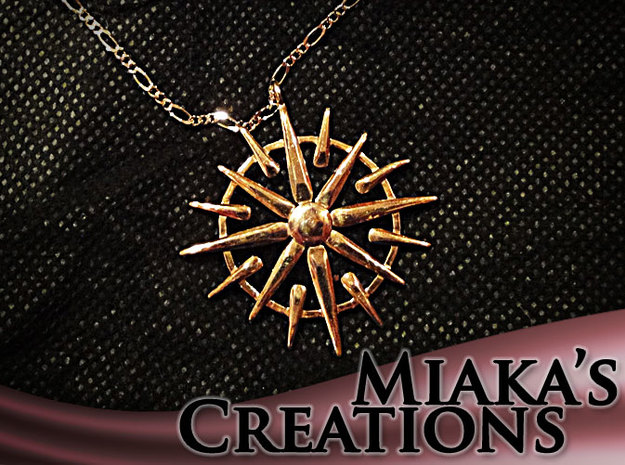 Sun Pendant  in 18K Gold Plated