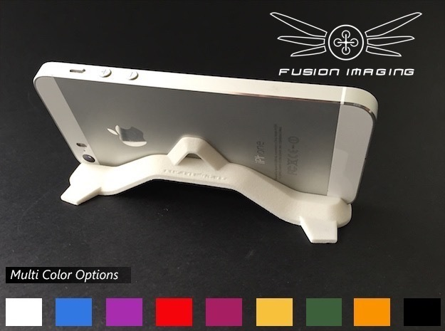iPhone / Mobile Phone Stand in White Strong & Flexible Polished