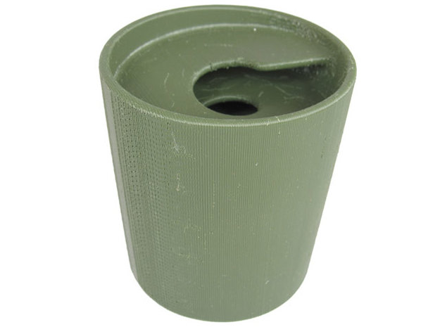 Spiral Cup in White Natural Versatile Plastic