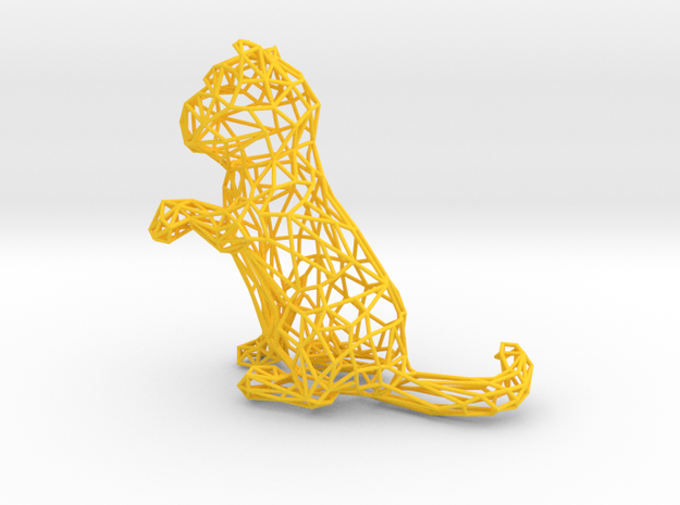 3D Wire Kitten (Not Exploding Kittens) 3d printed