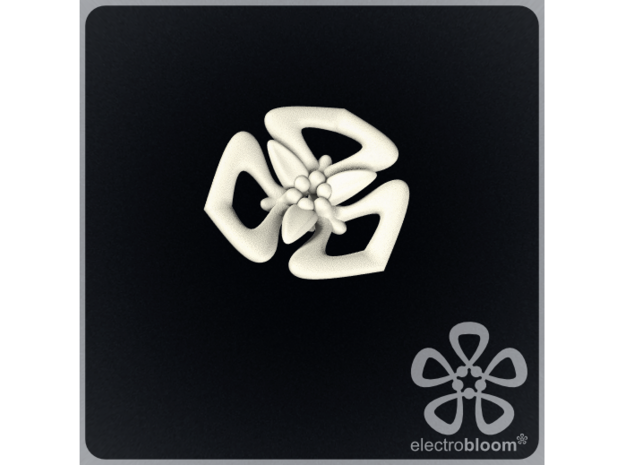 Tanya flower charm. in White Natural Versatile Plastic