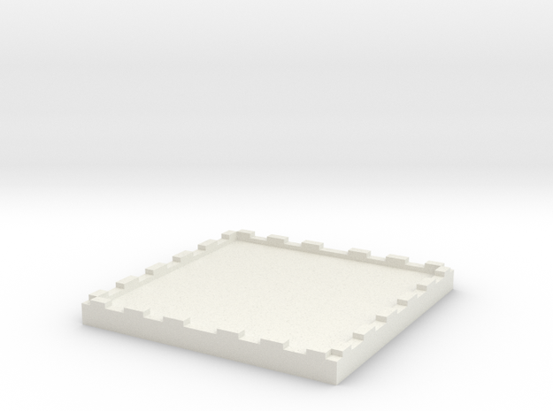 2 inch Miniature Base for Table top Miniatures Sol in White Strong & Flexible