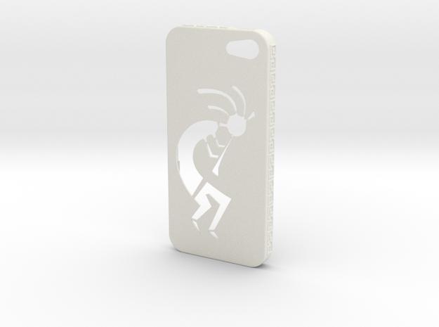 Kokopelli iPhone Case in White Natural Versatile Plastic