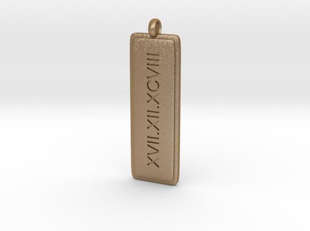 Roman Numerals Pendant 3d printed
