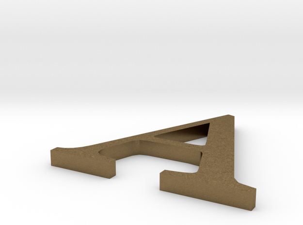Letter-A,  in Natural Bronze