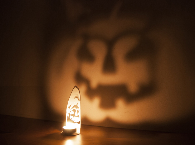 In the shadows - A Halloween Pumpkin Projection