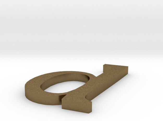 letter- d in Natural Bronze