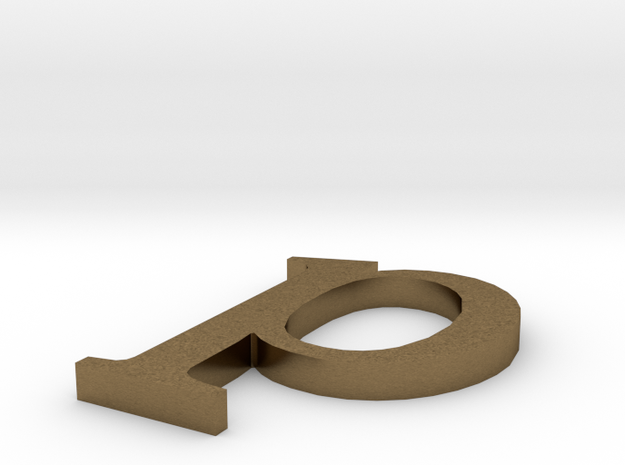 Letter- p in Natural Bronze