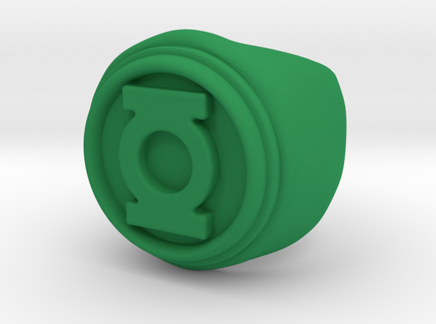 Green Lantern Ring - Size 10.5 in Green Strong & Flexible Polished
