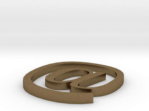 Symbol- @ in Natural Bronze