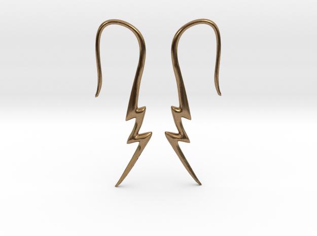 Lightning Bolt Earrings - 14g