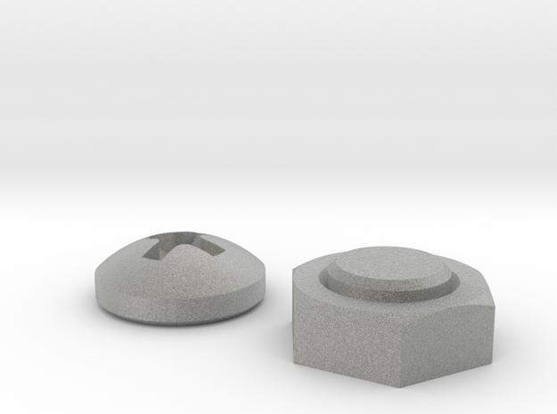 Nut & Screw shaped magnets (set of 2) in Metallic Plastic