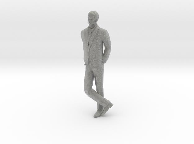 Man Leaning 16th in Metallic Plastic