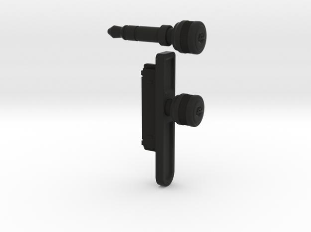 """The iPlug """"Jack"""" and iPlug """"Port"""" in Black Natural Versatile Plastic"""