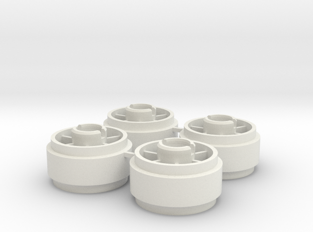 Mini-z SIPT29 +2 Wheelset in White Natural Versatile Plastic