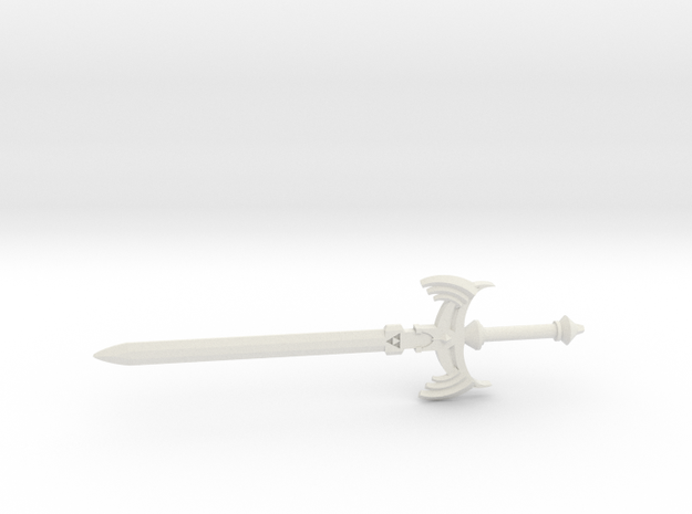 Master Sword Full in White Natural Versatile Plastic