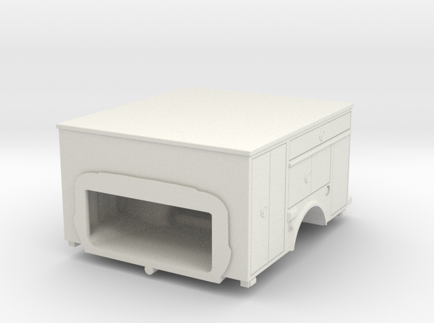 1/87 HO F-450 Rear in White Natural Versatile Plastic