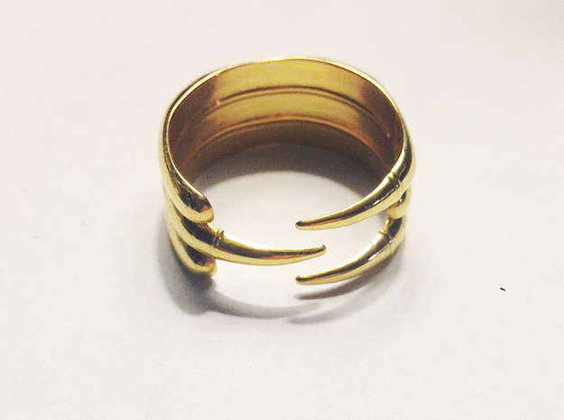 Claw Ring - Sz. 8 in 18K Gold Plated